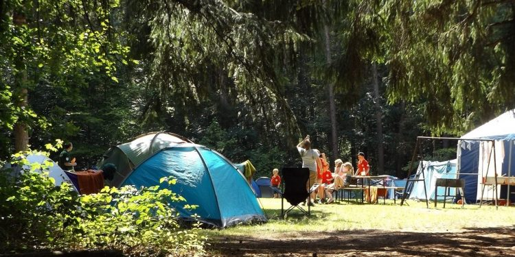 Emplacement au camping